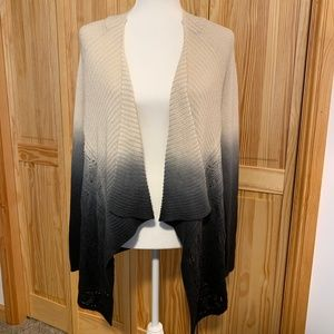 INC Draped Faded Color Cardigan